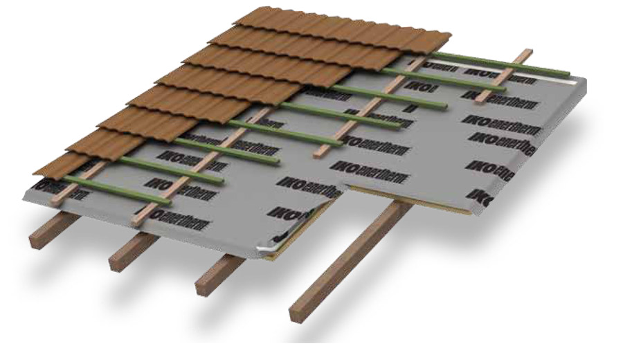 Pitched Roof Insulation With Undertile Felt Iko Enertherm