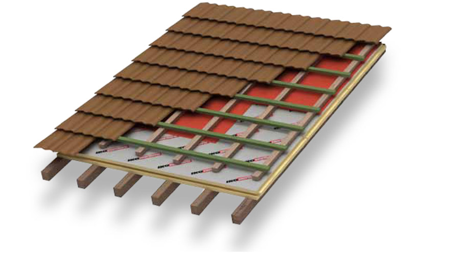 Hellend dak isolatie iko enertherm - Daken en volumes ...