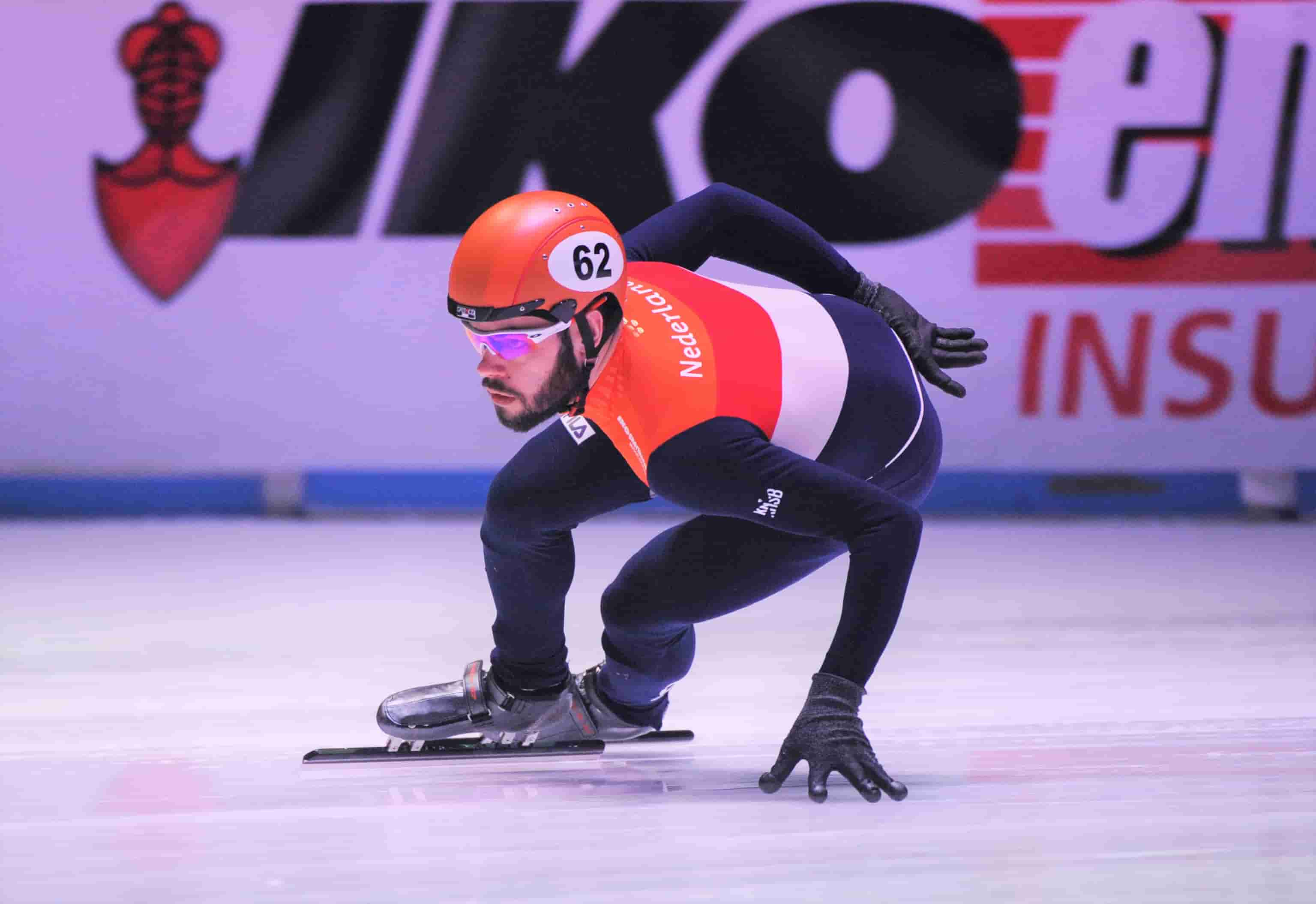 IKO insulations sponsort Sjinkie en WK shorttrack Ahoy